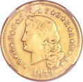 Proof Four Dollar Gold Pieces, 1879 $4 Flowing Hair, Judd-1635, Pollock-1832, R.3, -- Plugged,Harshly Cleaned -- NGC Details. XF Details....