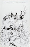Original Comic Art:Covers, Brandon Peterson and Tim Townsend Wizard X-Men Super SpecialCover Original Art (Wizard, 1999)....