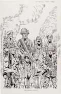 Original Comic Art:Covers, Don Lomax Fire Team #1 Cover Original Art (Malibu, 1990)....