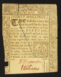 Colonial Notes:Connecticut, Connecticut March 1, 1780 40s Cross-Cut Cancel Extremely Fine.. ...