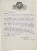 Autographs:Others, 1903 Miller Huggins Signed Letter to August Herrmann....