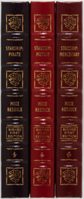 Books:Science Fiction & Fantasy, Mike Resnick. Three LIMITED/SIGNED Leather Bound Easton PressVolumes. Including: Starship: Mutiny. Easton P... (Total: 3Items)