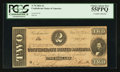 Confederate Notes:1864 Issues, T70 $2 1864 PF-5 Cr. 567.. ...