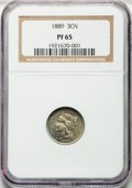 Proof Three Cent Nickels: , 1889 3CN PR65 NGC. NGC Census: (388/280). PCGS Population(394/307). Mintage: 3,436. Numismedia Wsl. Price for problemfree...