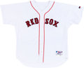 Baseball Collectibles:Uniforms, 2004 Derek Lowe Game Worn Boston Red Sox Jersey. ...