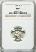 Proof Three Cent Nickels: , 1886 3CN PR63 NGC. NGC Census: (52/857). PCGS Population(103/1006). Mintage: 4,290. Numismedia Wsl. Price for problemfree...