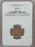 Flying Eagle Cents: , 1857 1C MS62 NGC. NGC Census: (303/1647). PCGS Population(407/1946). Mintage: 17,450,000. Numismedia Wsl. Price forproble...