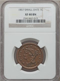 Large Cents: , 1857 1C Small Date XF40 NGC. NGC Census: (0/0). PCGS Population(22/177). ...