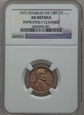 Lincoln Cents: , 1972 1C Doubled Die Obverse -- Improperly Cleaned -- NGC Details.AU. NGC Census: (1/171). PCGS Population (1/138). Mintage...