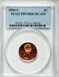 Proof Lincoln Cents, 2004-S 1C PR70 Deep Cameo PCGS; 2005-S PR70 Red Deep Cameo PCGS;2006-S PR70 Red Deep Cameo PCGS; 2007-S PR70 Red Deep Cameo ...(Total: 8 coins)