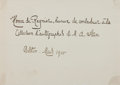 "Autographs:Authors, Henri de Regnier (1864-1936), French Poet, Signature. 7"" x 5"". Dated March, 1900. With mounting remnants and fold creases, e..."