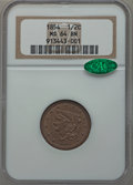 Half Cents: , 1854 1/2 C MS64 Brown NGC. CAC. NGC Census: (113/64). PCGSPopulation (71/18). Mintage: 55,358. Numismedia Wsl. Price for p...