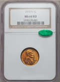 Lincoln Cents: , 1910-S 1C MS64 Red NGC. CAC. NGC Census: (115/173). PCGS Population(367/366). Mintage: 6,045,000. Numismedia Wsl. Price fo...