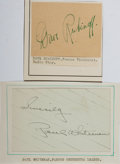 Autographs:Celebrities, [Musicians] Lot of Two Signatures: Orchestra Leader Paul Whiteman and Violinist Dave Rubinoff. Clipped signatures mounted on...