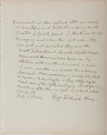 "Autographs:Inventors, George Frederick Kunz (1856-1932), American Mineralogist, AutographQuote Signed ""George Frederick Kunz"". One page, 9"" x..."