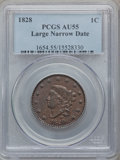 Large Cents: , 1828 1C Large Narrow Date AU55 PCGS. PCGS Population (24/37). NGCCensus: (21/74). Mintage: 2,260,624. Numismedia Wsl. Pric...