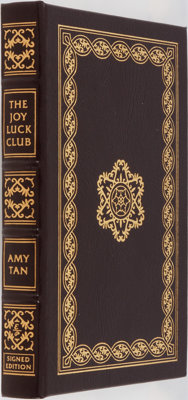 Amy Tan. SIGNED. The Joy Luck Club. Easton Press, 2000. Collector's edition signed b