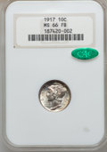 Mercury Dimes: , 1917 10C MS66 Full Bands NGC. CAC. NGC Census: (40/8). PCGSPopulation (79/16). Mintage: 55,230,000. Numismedia Wsl. Price ...