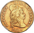 Early Half Eagles, 1800 $5 -- Mount Removed -- NGC Details. AU. BD-5, High R.3....