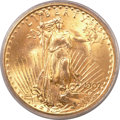Saint-Gaudens Double Eagles, 1907 $20 Arabic Numerals MS64+ PCGS. CAC....
