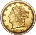 California Fractional Gold, 1872 25C Liberty Round 25 Cents, BG-815, High R.7, MS63 PCGS....