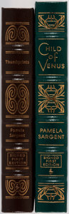 Books:Science Fiction & Fantasy, Pamela Sargent. LIMITED/SIGNED. Two Leather Bound Easton Press Volumes. Including: Thumbprints. Easton Press, 20... (Total: 2 Items)