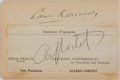 "Autographs:Celebrities, Alfred Cortot (1877-1962), French Pianist Signature ""AlfredCortot"". Signed on a 5.5"" x 2.25"" section of a program, and ..."
