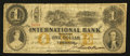 Canadian Currency: , Toronto, CW- The International Bank of Canada $1 Sep. 15, 1858 Ch.# 380-10-12-02. ...