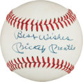 "Autographs:Baseballs, Circa 1970 Mickey Mantle Single Signed ""Best Wishes"" Baseball...."