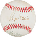 Autographs:Baseballs, Early 1980's Roger Maris (Sweet Spot) & Mickey Mantle DualSigned Baseball....