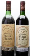 Red Bordeaux, Chateau Gloria. St. Julien. 1982 ts Bottle (1). 1988 Bottle(1). ... (Total: 2 Btls. )