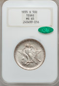 Commemorative Silver: , 1935-S 50C Texas MS65 NGC. CAC. NGC Census: (508/524). PCGSPopulation (845/468). Mintage: 10,000. Numismedia Wsl. Price fo...