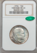Commemorative Silver: , 1936 50C Robinson MS65 NGC. CAC. NGC Census: (789/235). PCGSPopulation (1067/488). Mintage: 25,265. Numismedia Wsl. Price ...