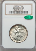 Commemorative Silver: , 1926 50C Oregon MS65 NGC. CAC. NGC Census: (667/391). PCGSPopulation (866/490). Mintage: 47,955. Numismedia Wsl. Price for...