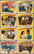 """Movie Posters:Sports, Knockout (Warner Brothers, 1941). Lobby Card Set of 8 (11"""" X 14""""). Sports.. ... (Total: 8 Items)"""