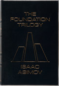 Books:Science Fiction & Fantasy, Isaac Asimov. SIGNED. The Foundation Trilogy. Easton Press,1988. Collector's edition signed by the author. Illu...