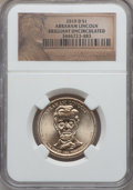 Presidential Dollars, 2010-D $1 Abraham Lincoln, Position B, Satin Finish BrilliantUncirculated NGC. ...