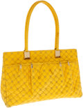 Luxury Accessories:Bags, Judith Leiber Yellow Lizard Shoulder Bag. ...