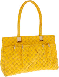 Judith Leiber Yellow Lizard Shoulder Bag