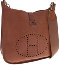 Luxury Accessories:Bags, Hermes Natural Barenia Leather Evelyne Messenger Bag. ...