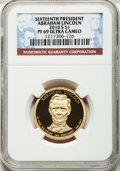 Proof Presidential Dollars, 2010-S $1 Millard Fillmore, PF69 Ultra Cameo NGC. 2010-S $1 AbrahamLincoln, PF69 Ultra Cameo NGC. ... (Total: 2 coins)
