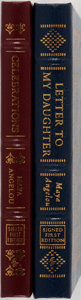 Books:Biography & Memoir, Maya Angelou. Two LIMITED/SIGNED Leather Bound Easton PressEditions. Including: Celebrations. Rituals of Peace and Pray...(Total: 2 Items)