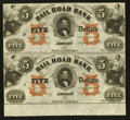 Obsoletes By State:Michigan, Adrian, MI- The Erie and Kalamazoo Rail Road Bank $5-$5 Aug. 1, 1853 G34b-G34b Lee ADR-3-39-40 Uncut Pair. ...
