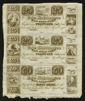 Obsoletes By State:Ohio, Toledo, OH- The Erie and Kalamazoo Rail-Road Compy. 25¢-25¢-50¢ LeeADR-5-73 Uncut Sheet. ...
