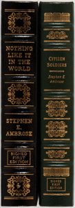 Books:Americana & American History, Stephen E. Ambrose. Two LIMITED/SIGNED Leather Bound Easton PressEditions. Including: Citizen Soldiers. Eas... (Total: 2Items)