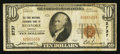 National Bank Notes:Virginia, Roanoke, VA - $10 1929 Ty. 1 The First National Exchange Bank Ch. #2737. ...