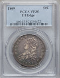 Bust Half Dollars: , 1809 50C III Edge VF35 PCGS. PCGS Population (21/95). NGC Census:(10/239). Numismedia Wsl. Price for problem free NGC/PCG...