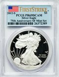 Modern Bullion Coins, 2012-S $1 Silver Eagle, 75th Anniversary, San Francisco Mint Set,First Strike PR69 Deep Cameo PCGS. PCGS Population (8433/...