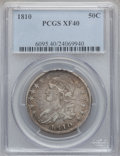 Bust Half Dollars: , 1810 50C XF40 PCGS. PCGS Population (103/391). NGC Census:(44/505). Mintage: 1,276,276. Numismedia Wsl. Price for problem ...