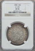 Bust Half Dollars, 1808 50C O-105, R.3 XF45 NGC. NGC Census: (60/254). PCGS Population(65/269). Mintage: 1,368,600. Numismedia Wsl. Price for...